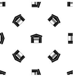 garage pattern seamless black vector image