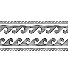 Greek wave grecian ornament vector