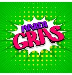 Green lettering Mardi Gras vector image