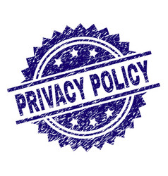 Grunge textured privacy policy stamp seal vector