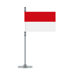 indonesian flag on the metallic pole vector image