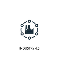Industry 40 icon simple element vector