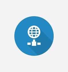 internet Flat Blue Simple Icon with long shadow vector image