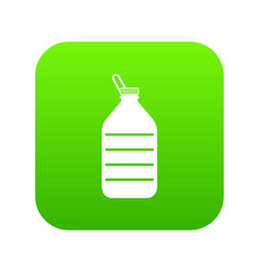 large bottle of water icon digital green vector image