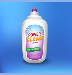 Laundry detergent package design white container vector
