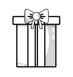 line nice present gift to merry christmas vector image