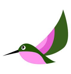little hummingbird on white background vector image