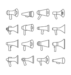Megaphone announcement loudspeaker thin line vector image vector image