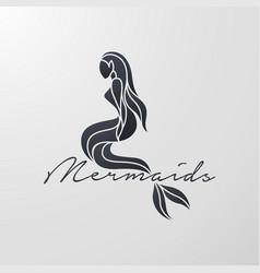 Mermaid logo icon design vector