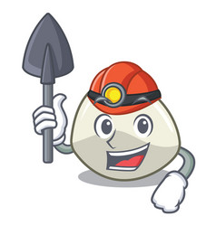 Miner traditional italian food mozzarella cheese vector