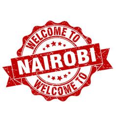nairobi round ribbon seal vector image