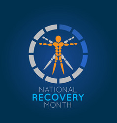 national recovery month logo icon vector image