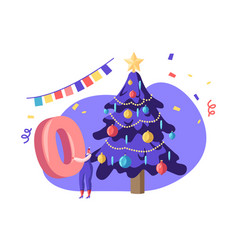 new year 2020 celebration concept tiny business vector image