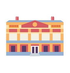 Novi sad hungrarian theater icon in flat vector