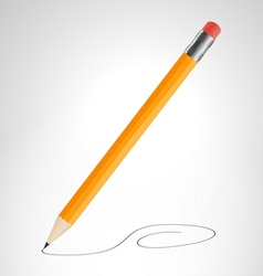 Pencil is drawing curve vector