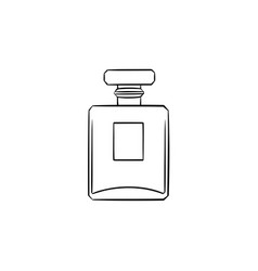 Perfume hand drawn sketch icon vector