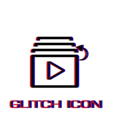 playlist icon flat vector image