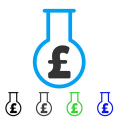 Pound financial alchemy flat icon vector