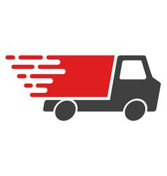 Quick delivery with fast speed effect vector