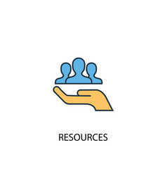 resources concept 2 colored line icon simple vector image