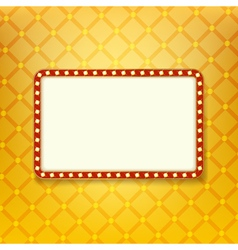 Retro golden frame vector image