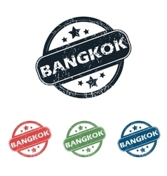 Round Bangkok city stamp set vector