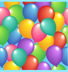 seamless background with balloons 1 vector image