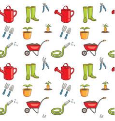 seamless pattern of gardening vector image