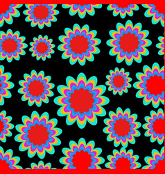 seamless patterns with fantasy flower in vector image
