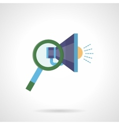 Search promotion flat color icon vector image