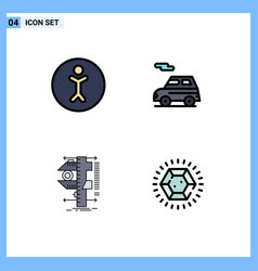 Set 4 modern ui icons symbols signs vector