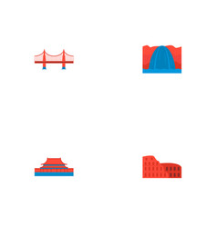 set of famous icons flat style symbols with vector image