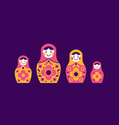 Set of matryoshka russian nesting dolls vector