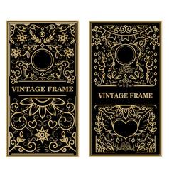 set vintage frames design elements for poster vector image
