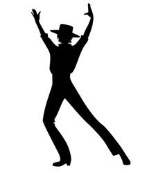 Silhouette of spanish flamenco dancer man wearing vector