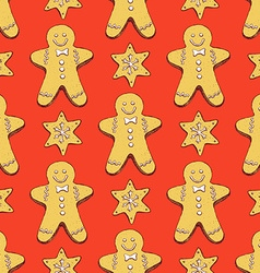 Sketch ginger bread cookies vector image