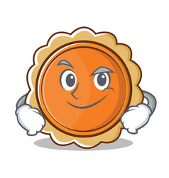 Smirking pumpkin pie character cartoon vector
