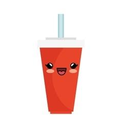 Soda character kawaii style vector