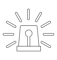 Special flasher icon outline style vector