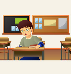 Student in the classroom vector
