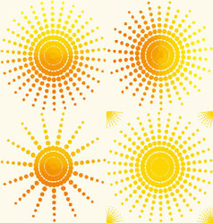 sun-set-pattern vector image