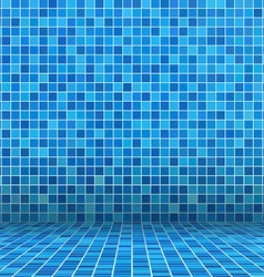 Swimming pool ceramic vector