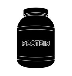 the bank labeled protein sports supplements in vector image
