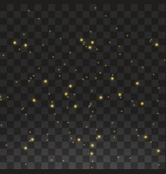 the dust is yellow yellow sparks and golden stars vector image