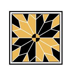 Traditional islamic design arabic floral frame vector