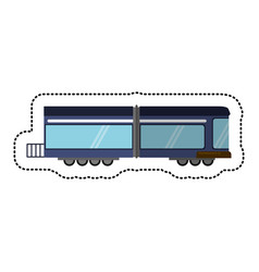 Train rail passenger transport shadow vector