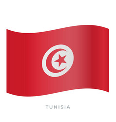 tunisia waving flag icon vector image