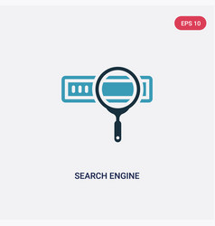 two color search engine icon from search engine vector image