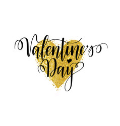 valentines day nice calligraphy design for vector image
