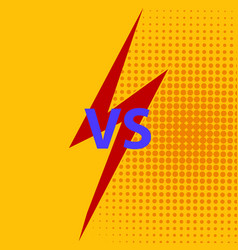 versus vs letters fight background vector image